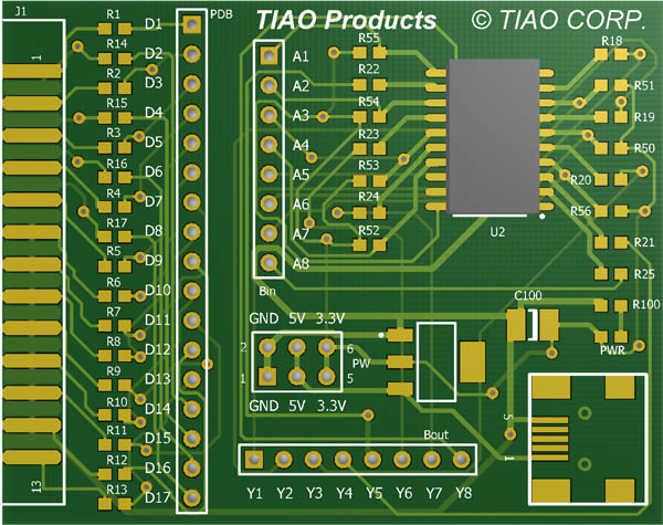 Universal JTAG in 3D